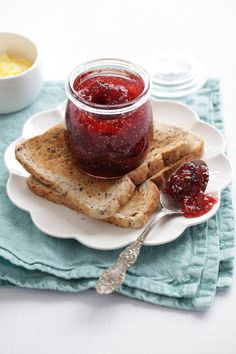 Julie Le Clerc: The delights of fig jam. Fig Jam, How To Make Jam, Preserves, Jam Making, French Toast, Figs, Breakfast, Recipes, Kitchens
