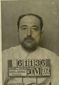 """Fernando Velentí """"policia"""" chequista del consejillo de Buenvista y asesino con la ficha de cuando fue detenido en 1939"""