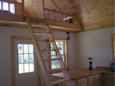 Loft And Folding Stairs Cabin Loft Loft Stairs Tiny