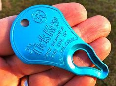 The Tick Key is a super portable option for tick removal, NECESSITY. @WillandJess2015