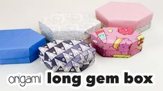 Learn how to make a long origami gem box, this is like a crystal with two points. This a more advanced model, but not too hard. Makes a wonderful gift box! ...