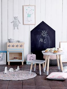 Decorate your kids' room like a tiny restaurant. All designs are Bloomingville Mini