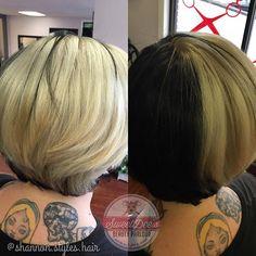 WEBSTA @ shannon.styles.hair - #cruelladevilhair is back! After 2 sessions we got @mustachley_geographic platinum. #behindthechair #modernsalon #sweetdeesbeautyparlour