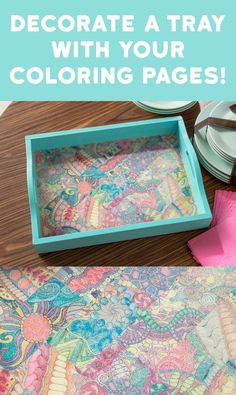 Do you have a bunch of adult coloring pages laying around and aren't sure what to do with them? Decorate a tray! It's easy and makes a great gift idea #MichaelsMakers @ModPodgeRocks