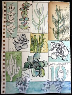 a page from my sketchbook by janelafazio.  Jane is one of my favorite artist!  Would like a class in person with her.