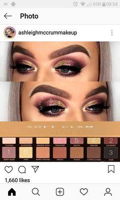 Glam Makeup Look, Makeup Looks, Love Makeup, Makeup Inspo, Beauty Makeup, Anastasia Palette, Anastasia Makeup, Eyeshadow Styles, Eyeshadow Makeup