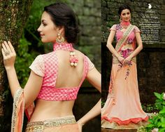 Look Beautiful on any Occasion in Light Peach and Light Pink Net Lehenga Style Saree with Heavy Silk Blouse and Santoon Inner. Thread,jari,Moti,Jardosi & Stone Work With Heavy Lace On Border.