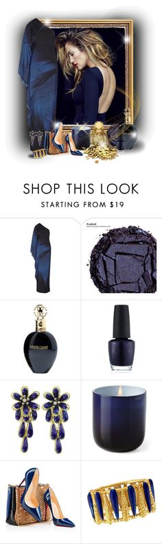 """""""*******"""" by elona-makavelli ❤ liked on Polyvore featuring Halston Heritage, Urban Decay, Roberto Cavalli, OPI, Jonathan Adler and Christian Louboutin"""