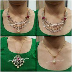 Multiway Detachable Bridal Diamond Necklace Gold Bangle Bracelet, Gold Bangles, Diamond Jewelry, Gold Jewelry, Diamond Necklaces, Emerald Necklace, Indian Diamond Necklace, India Jewelry, Jewellery