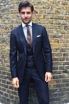 Navy suit, black tie. | Wedding | Pinterest | Navy suits, Costumes ...