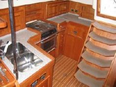 Galley Features to Look For -- the galley layout can have a big effect on the safety of the cook.  If you CAN get thrown across the boat, you WILL.  From TheBoatGalley.com