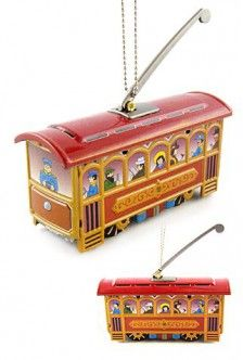 Christmas Trolley Ornament Red $15