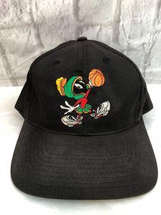 fbd9152b Vintage 1991 Marvin Martian Space Jam Hat Looney Tunes Cap Snapback White  USA | eBay