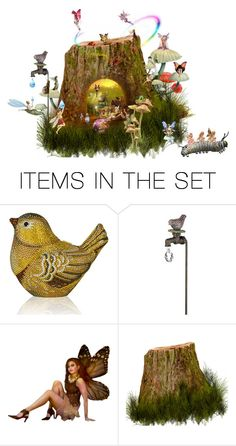"""""""There's Fairies at the bottom of the garden."""" by cardigurl ❤ liked on Polyvore featuring art"""