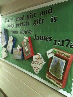 I did a similar board with the presents last year, but I think I'll improve it this year by using this great verse.