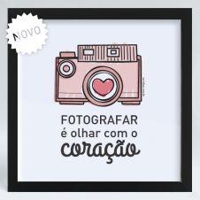 Quadro Câmera Rosa