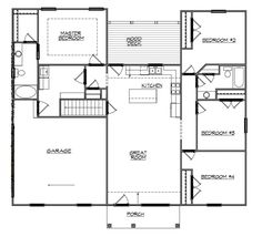 Ranch home floor plans open floor plans ranch house for Basement finishing floor plans