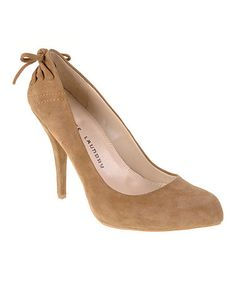 Take a look at this Camel Suede Don't Stop Pump by Chinese Laundry on #zulily today!