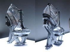 Fashion Architecture - 3D printed shoes; conceptual footwear design; sculptural shoe art // Iris Van Herpen + United Nude