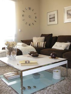sofa marron decoracion - Buscar con Google