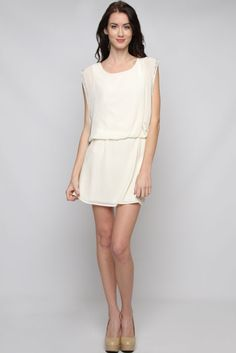 Ivory Portia Chiffon Dress