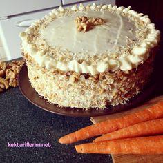 Kremalı Havuçlu Cevizli Pasta