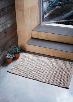 Armadillo Decorator Rugs Entrance Mats - Terrain Weave - Natural