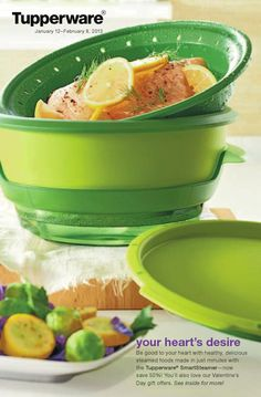 Tupperware Smart Steamer this works really good you can even cook fish on top and something different on the bottom and the fish flavor does not leak through to other foods, my kids even use it
