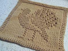 Turkey dish cloth pattern