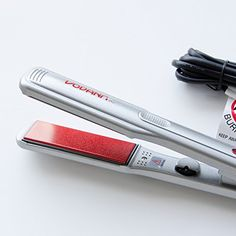 Vodana Professional Silver Ceramic Electric Hair Straightener, VP Ceramic, 1.0 inch PLUS eCool4U Cable Tie * More info could be found at the image url.