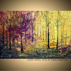 Fine Art  Print on Large Stretched Canvas FALL by vizoliartprints, $145.00  Master bedroom artwork idea