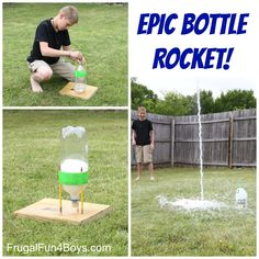EPIC Bottle Rocket! This rocket flew higher than our two story house!