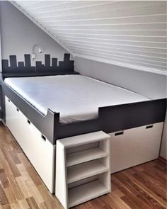 These borrowed ikea hacks are going to be the inspiration for my own hack coming in the future, a platform bed with storage and space for dog crates underneath.