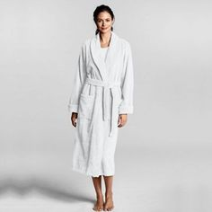 Free Shipping Footlocker Genuine Cheap Online Womens Petite Luxury Terry Robe - 10 -12 - WHITE Lands End 100% Guaranteed For Sale sPEeHP