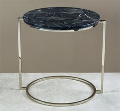 Interlude Halo End Table. A tailored metal base gets an antique brass finish and a travertine marble top to deliver a sleek and chic end table sure to make a subtle, but powerful impression. – Modish Store