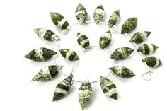 Green Zebra Jasper Faceted Dew Drops Quality A 7x14 to 9x19 #greenzebrajasper #greenzebrajasperbeads #greenzebrajasperbead #greenzebrajasperdewdrops #dewdropsbeads #beadswholesaler #semipreciousstone #gemstonebeads #gemrare #beadwork #beadstore #bead