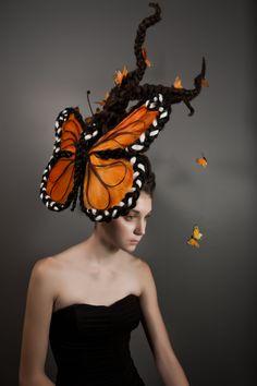 fantasy hair, hair butterfly