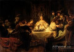 Rembrandt Van Rijn Samson At The Wedding oil painting reproductions for sale
