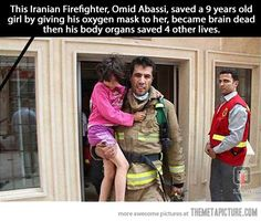 The definition of a true hero…