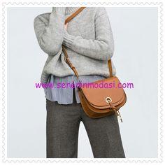 Zara çift kanatlı taba kol çantası
