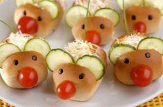 Uma receita para levar as crianças para a cozinha! Aprenda a fazer um ratinho com bisnaguinha, tomate, pepino e recheio de cenoura