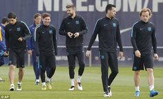 Pique back in training ahead of clash with Atletico Madrid