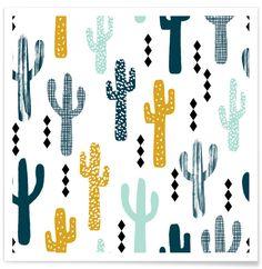 Cactus Mustard en Affiche premium par Charlotte Winter | JUNIQE
