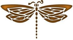 Dragonfly Reusable Stencil | Dons Hobby Shop
