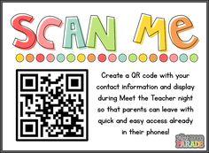 QR Code for Teacher Information