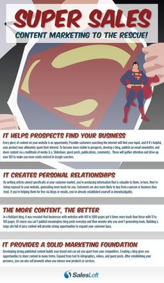 Be the Superman Of Sales through using Content Marketing