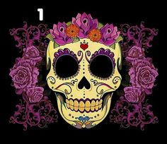 Sugar Skull Cotton T-Shirts in sizes up to 4X!  $14.99 EACH + FREE SHIPPING!