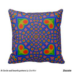 A Circle and hearth pattern Throw Pillow