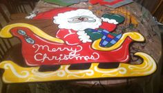 Santa sleigh Yard art