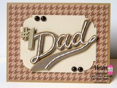 DT Helen @Twine It Up! with Trendy Twine made a #1 Dad card with Krazy for Kraft Trendy Twine.